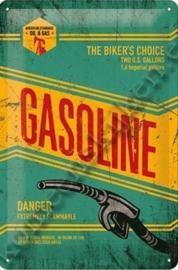 metalen wandplaat gasoline 20-30 cm