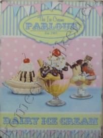wandplaat the ice cream parlour 30-40 cm