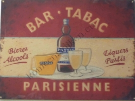 metalen wandbord bar tabac parisienne 30-40 cm