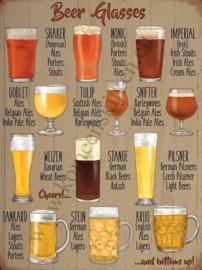 blikken wandbord Beer Glasses 30x40 cm