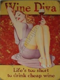 koelkastmagneet wine diva