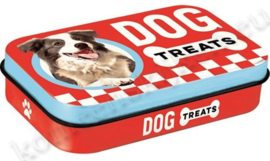 blikken doosje Pet Treat Box Dog Treats rood NA82206