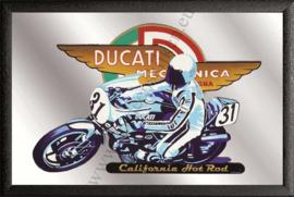 Spiegel Ducati meccanica met motorfiets
