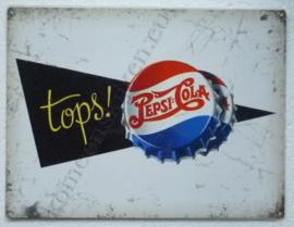 metalen wandplaat pepsi cola kroonkurk tops! 30-40 cm