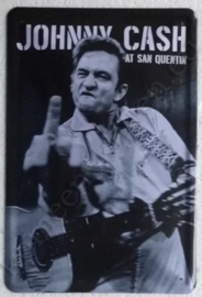 metalen wandbord Johnny Cash / Quentin 20x30 cm