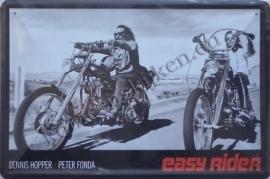 metalen wandbord easy rider 20-30 cm