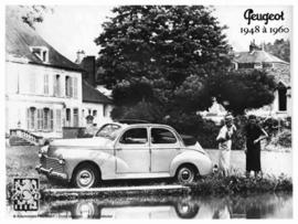 blikken wandplaat Peugeot 203 open dak 15x21 cm