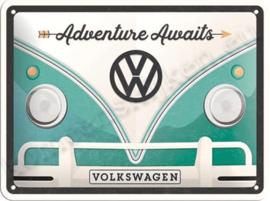 Metalen bord Volkswagen T1 adventure awaits 15-20 cm