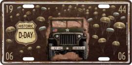kentekenplaat US jeep 30x15