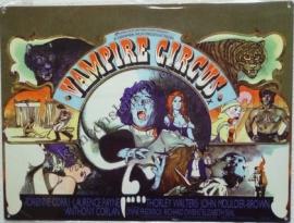 metalen affiche film vampire's circus 30-40 cm