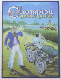 metalen wandplaat champion spark plugs 30-40 cm