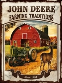 metalen wandbord farming traditions 30-40 cm