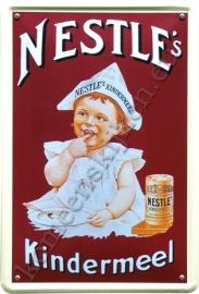 metalen ansichtkaart nestle's kindermeel 10-14 cm