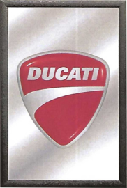 decoratie spiegel rood Ducati logo