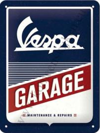 blikken muurbord Vespa garage 15x20 cm