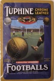 metalen reclamebord tuphine footballs 20-30 cm