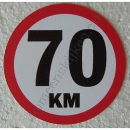 sticker 70 km 7,5 cm