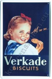metalen muurbord Verkade meisje met biscuits 20x30 cm