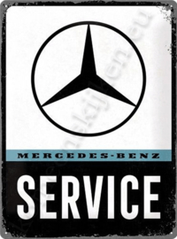 metalen wandbord mercedes benz service 30-40 cm