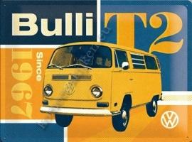 blikken wandbord volkswagen bulli T2 30-40 CM