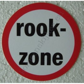 sticker rookzone 7,5 cm