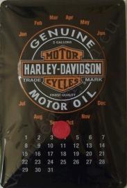 eeuwigdurende kalender harley davidson genuine 20-30 cm.