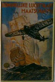 nostalgische wandplaat van de KLM  20-30 cm
