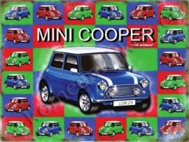 blikken wandplaat Mini Cooper the works 30-40 cm