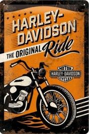 metalen wandplaat Harley Davidson the original ride 20-30 cm