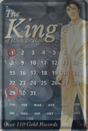 eeuwigdurende kalender elvis the king 20-30 cm.