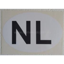 Witte NL sticker jumbo 25 cm