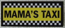 sticker mama`s taxi 11,5 cm.