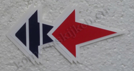 vespa stickers pijlen