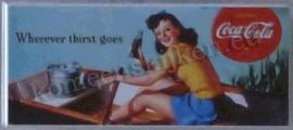 koelkastmagneet coca cola roeiboot