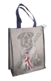 tas hond met UK stropdas