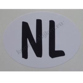sticker ovaal NL relax 9 bij 6,5 cm