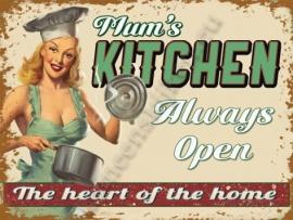metalen wandplaat mum's kitchen 30-40 cm