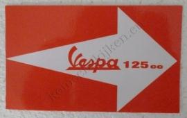rode vespa sticker 125 cc
