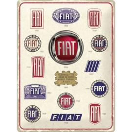 blikken muurbord Fiat logo evolution