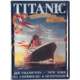 blikken reclame bord Titanic Southampton- New York 30-40 cm