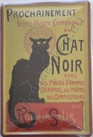 metalen  wandplaat chat noir 20-30 cm