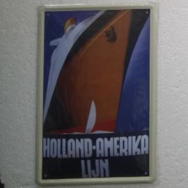 nostalgische wandplaat van Holland america lijn 20-30 cm