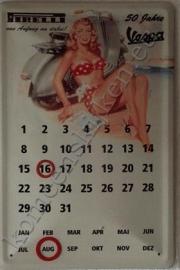 eeuwigdurende metalen kalender vespa pirelli