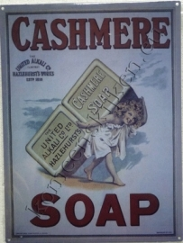 metalen wandplaat cashmere soap 30-40 cm