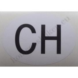 sticker ovaal zwitserland 9 bij 6,5 cm