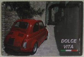 metalen wandbord Fiat 500 dolce vita 20x30 cm
