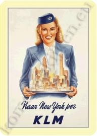blikken reclame bord KLM New York 20-30 cm