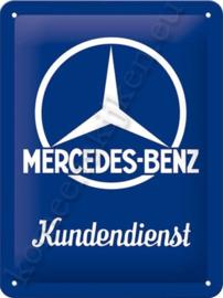 blikken wandbord mercedes benz kundendienst 15-20 cm