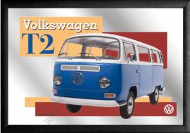 spiegel volkwagen bus T2 blauw wit