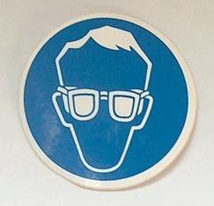 sticker veiligheidsbril  5 cm